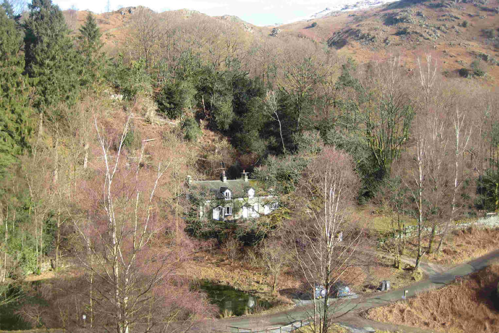 3 Tarn Cottages Ariel View